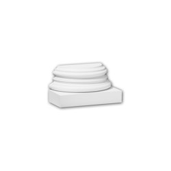 Interior mouldings - Half column base Profhome 117900 | Baseboards | e-Delux
