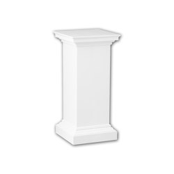 Interior mouldings - Full column pedestal Profhome 114002 | Baseboards | e-Delux
