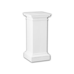 Interior mouldings - Full column pedestal Profhome 114003 | Baseboards | e-Delux