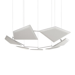 Flap Chain | Sound absorbing suspended panels | Caimi Brevetti