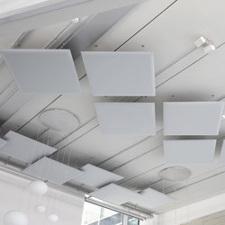 Oversize Ceiling | Sound absorbing suspended panels | Caimi Brevetti
