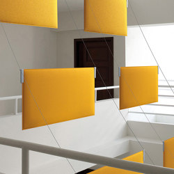 Tra | Sound absorbing suspended panels | Caimi Brevetti