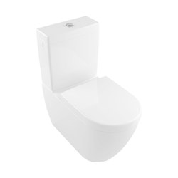 Subway 2.0 Washdown WC for close-coupled WC-Suite, rimless | WC | Villeroy & Boch