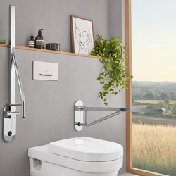 ViCare Folding Handle With Unhook Mechanism And Soft Surface   Grab rails   Villeroy & Boch