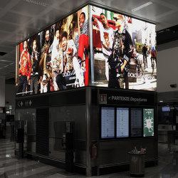 Lightcube and Ring | Advertising displays | Dresswall