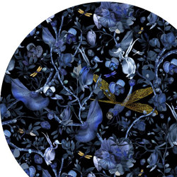 Biophillia | Blue Black Round | Alfombras / Alfombras de diseño | moooi carpets