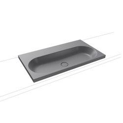 Centro countertop washbasin 120 mm oyster grey matt   Lavabi   Kaldewei