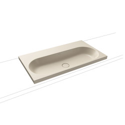 Centro countertop washbasin 120 mm seashell cream matt   Lavabi   Kaldewei