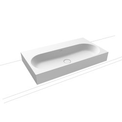 Centro inset countertop washbasin 40 mm alpine white matt | Lavabi | Kaldewei