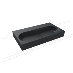 Centro inset countertop washbasin 40 mm catania grey matt | Lavabi | Kaldewei