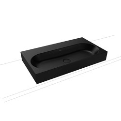 Centro inset countertop washbasin 40 mm lava black matt | Lavabi | Kaldewei