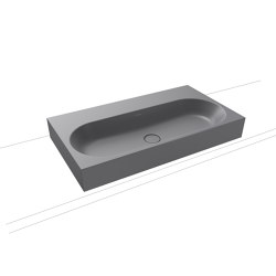 Centro inset countertop washbasin 40 mm oyster grey matt | Lavabi | Kaldewei