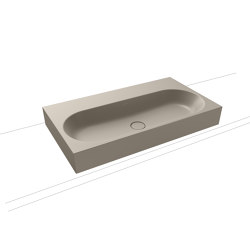 Centro inset countertop washbasin 40 mm perl grey matt | Lavabi | Kaldewei