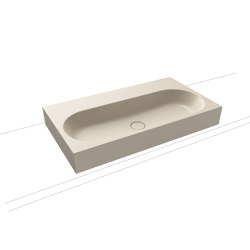Centro inset countertop washbasin 40 mm seashell cream matt | Lavabi | Kaldewei