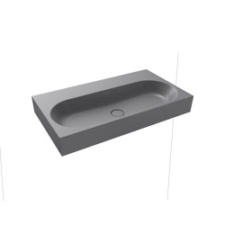 Centro wall-hung washbasin oyster grey matt | Lavabi | Kaldewei