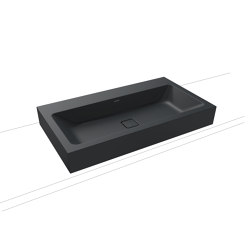Cono countertop washbasin 120 mm catania grey matt | Wash basins | Kaldewei