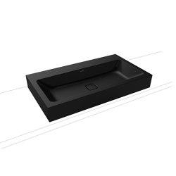 Cono countertop washbasin 120 mm lava black matt | Wash basins | Kaldewei