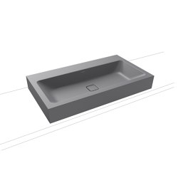 Cono countertop washbasin 120 mm oyster grey matt | Wash basins | Kaldewei