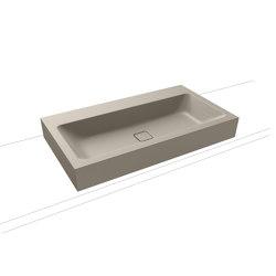 Cono countertop washbasin 120 mm perl grey matt | Wash basins | Kaldewei