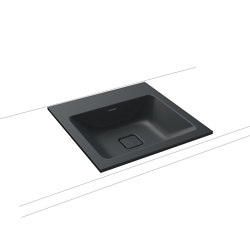Cono built-in washbasin catania grey matt | Wash basins | Kaldewei