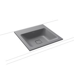 Cono built-in washbasin oyster grey matt | Wash basins | Kaldewei