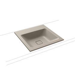 Cono built-in washbasin perl grey matt | Wash basins | Kaldewei