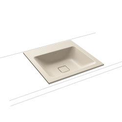 Cono built-in washbasin seashell cream matt | Wash basins | Kaldewei