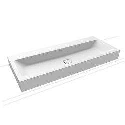 Cono wall-hung double washbasin alpine white matt | Lavabi | Kaldewei