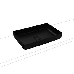 Miena washbowl lava black matt (rectangular)   Wash basins   Kaldewei