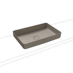 Miena washbowl perl grey matt (rectangular)   Wash basins   Kaldewei