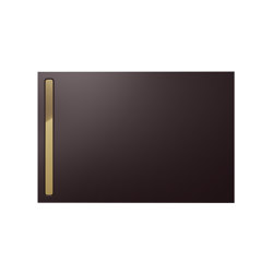 Nexsys ancona brown matt I Cover polished gold | Shower trays | Kaldewei