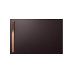 Nexsys ancona brown matt I Cover brushed rose gold | Shower trays | Kaldewei
