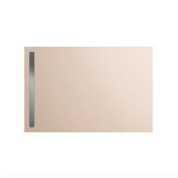 Nexsys bahamabeige I Cover brushed stainless steel | Shower trays | Kaldewei