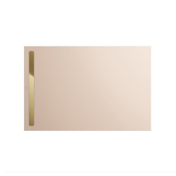 Nexsys bahamabeige I Cover polished gold | Shower trays | Kaldewei