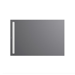 Nexsys oyster grey matt I Cover powder-coated alpine white | Platos de ducha | Kaldewei