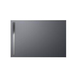 Nexsys pasadena grey matt I Cover brushed stainless steel | Shower trays | Kaldewei
