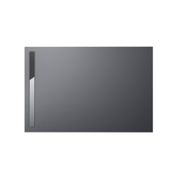 Nexsys pasadena grey matt I Cover polished stainless steel | Shower trays | Kaldewei