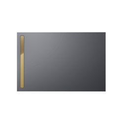 Nexsys pasadena grey matt I Cover polished gold | Shower trays | Kaldewei