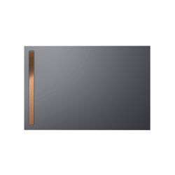 Nexsys pasadena grey matt I Cover brushed rose gold | Shower trays | Kaldewei