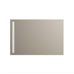 Nexsys perl grey matt I Cover powder-coated alpine white | Shower trays | Kaldewei