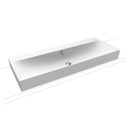 Silenio countertop double washbasin 120 mm alpine white matt | Lavabi | Kaldewei