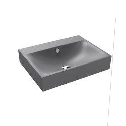 Silenio wall-hung washbasin oyster grey matt | Wash basins | Kaldewei