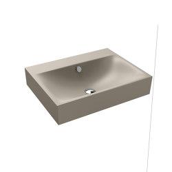 Silenio wall-hung washbasin perl grey matt | Wash basins | Kaldewei