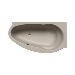 Studio left perl grey matt | Bathtubs | Kaldewei