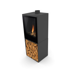 Versal Freestanding with woodbox | Closed fireplaces | Planika