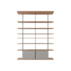 F1 Bookcases | Web Line 28 | Shelving | Forme's Collection