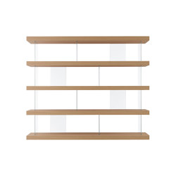 F2 Bookcases | F. Line 2400 Free | Shelving | Forme's Collection