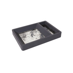 Container | Key Tray Black | Trays | Antique Mirror