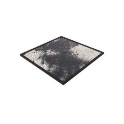 Tray | Square Tray Black | Trays | Antique Mirror