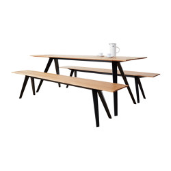 Knikke – foldable bench & table | Tables and benches | NEUVONFRISCH
